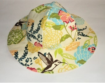 Baby Sun Hat, Toddler Sun Hat, Baby Girl Sun Hat, Summer Hat, Newborn Hat, Cotton Floral Hat, Floppy Beach Hat, Baby Girl Clothes, Baby Gift