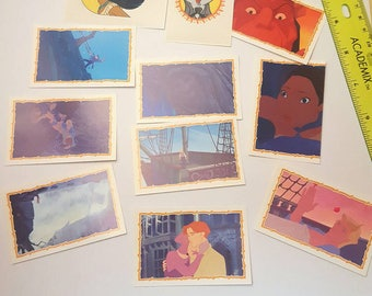 Pocahontas 90s Panini Sticker Book Stickers (10 pc mixed)