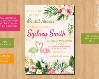 bridal shower invitation printable bridal shower invitation floral couples bridal shower invitation coed bridal shower bachelorette party