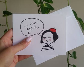 I Love You 100% Recycled Paper Note Card