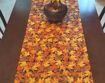 Fall Table Runner,  Autumn Table Runner,  Harvest Table Runner