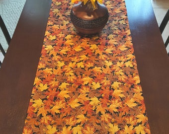 Wonderful Fall Table Runner, Autumn Table Runner, Harvest Table Runner