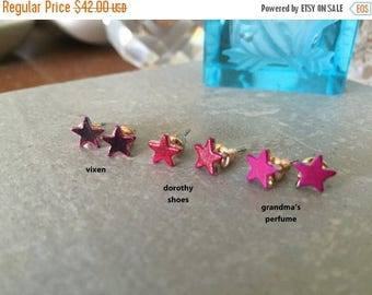 60% OFF Sale STAR studs vixen > blood red tiny star earrings << cuz stupid high heels are just too painful