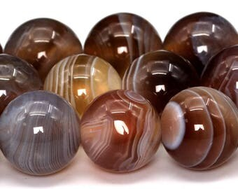 "10MM Botswana Agate Beads Grade AAA Genuine Natural Gemstone Full Strand Round Loose Beads 15"" BULK LOT 1,3,5,10 and 50 (101910-428)"