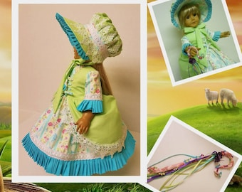 Little Bo Peep Costume with Accessories - Fits American Girl Dolls