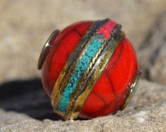 Beeswax pendant bead Tibetan style TP054