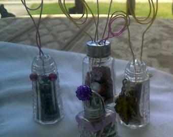 Purple Dazzle Upcycled Shaker Photo Card Holders Set of 4