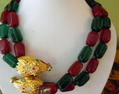 From the Vintage KJL Collection is This Snake Necklace.  This is signed.