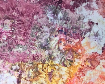 Hand Dyed Fabric, Ice Dyed Cotton Quilt Fabric, Fat Quarter (MB) #157