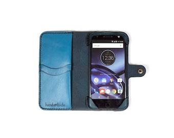 Moto Z2 Play Leather Wallet Case / Moto Z2 Play Case / Leather Phone Case / Wallet Phone Case
