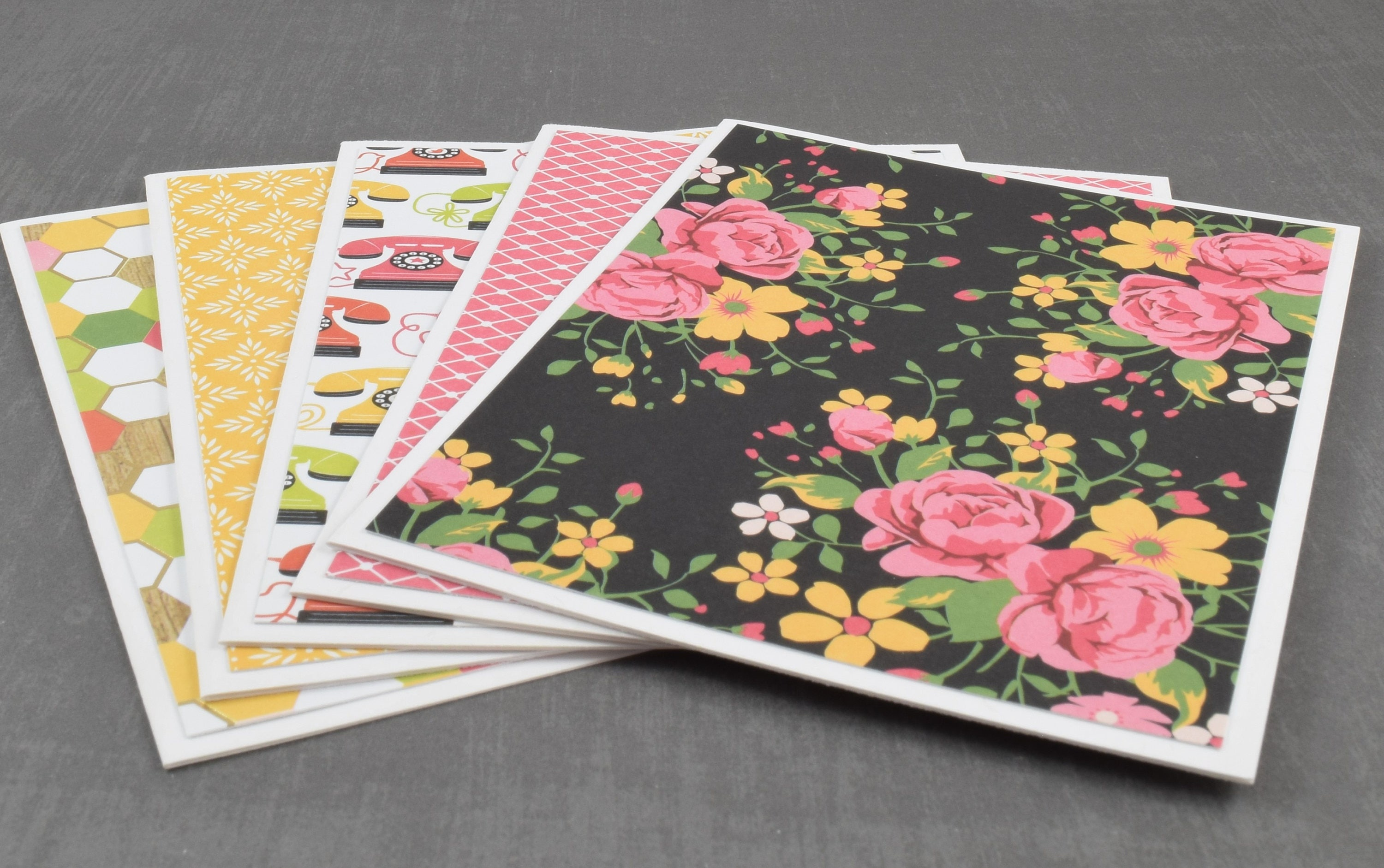 Flower cards retro cards pack of greeting cards assorted zoom kristyandbryce Image collections