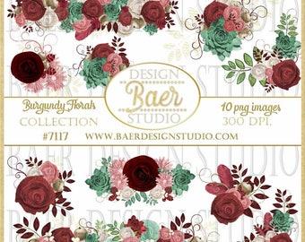 Roses Clip Art, Clip Art Borders, Clip Art Flowers, Clip Art Wedding, Succulent Clip Art, Clip Art Corners, Commercial Use Clip Art, #7117