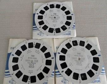 Viewmaster Movie Stars 1954 Vintage Viewmaster reels Sawyer's