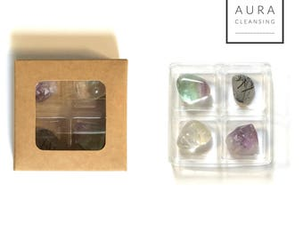 AURA CLEANSE COLLECTION ---  Rox Box  --- crystal, gemstone gift