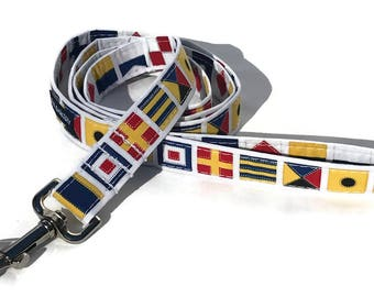 Dog Leash in Nautical Flags for Small to Large Dogs