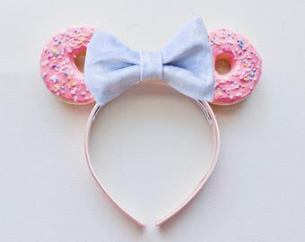 Simpsons Donut Ears / Pink Mouse Ears / Mickey Ears / Minnie Ears / Minnie Mouse Ears / Disney Ears / Disneyland Headband /