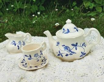 Little Ceramic Tea set - Handmade and hand painted