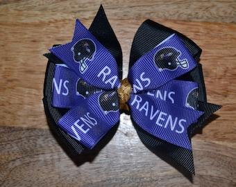 Baltimore Ravens Hair Bow Stocking Stuffer