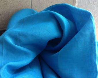 Quality Linen Fabric 4 yard - Parisian Blue / Leinen Stoff - Blau