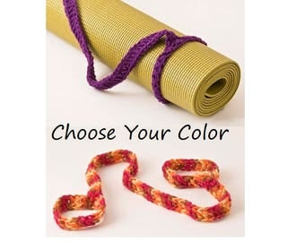 Yoga Mat Strap, Yoga Bag, Yoga Mat Slim Sling Handle - US Shipping Included - Your Choice of Color - Original HH Design