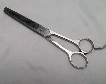 "Vintage Taper Fine 44 20 Barber Barbers Shears scissors 6"""