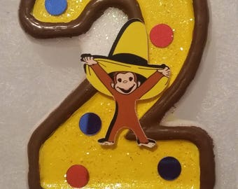 Curious George Birthday Number Candle