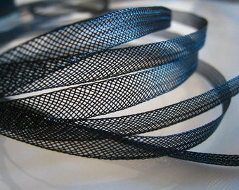 100 Yards of Black Horsehair Flat Crinoline for Hair Accessories ( 6mm Width )