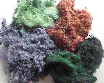 Great British hand dyed felting fleece pack - 100g - Bag 60