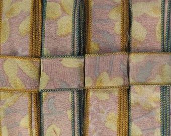 12 Yards of Silk Trim, 4 colors, E62