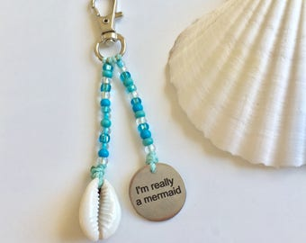 beach accessory, mermaid key chain