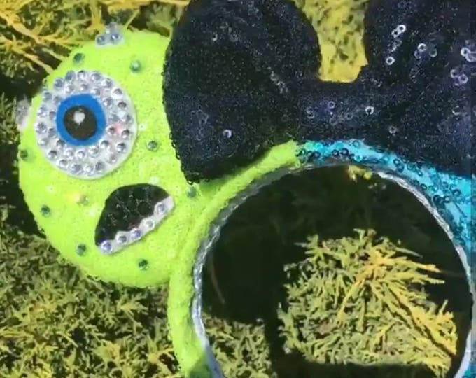 Mike & Sulley Monsters Inc Minnie Sequin ears