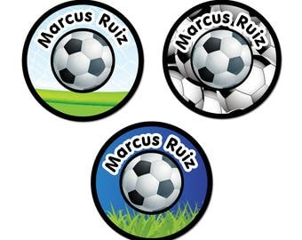 Iron-On Labels (2 Sizes), Soccer