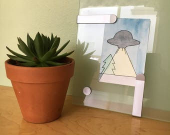 UFO Watercolor Painting