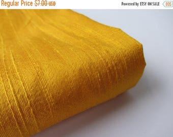 ON SALE 25% OFF Yellow India raw silk shantung silk fabric nr 801 fat quarter (1/4 yard)