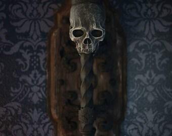 Skull Torch Sconce