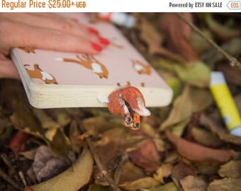 BACK TO SCHOOL 20% off // Fox bookmark // Cute red fox creative gift for animal lover // Back to school gift for student, teacher //
