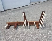 Almost Pennsic Walnut Inkle loom that's good for card and tablet weaving