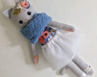 Heirloom Kitty Doll Cat Ragdoll Cloth doll