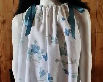 On Sale Floral Print Pillowcase Dress w/Hairclip