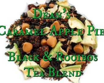 Dean's  Caramel Apple Pie - Black & Rooibos Tea Blend - loose leaf tea, apple pie tea, Supernatural inspired tea, fandom tea