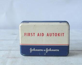 First Aid Kit Vintage Johnson Johnson Autokit General First Aid Original Content