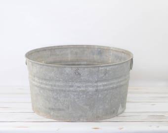 Galvanized Tub Wash Tub Bucket Metal Handle Galvanized Metal Mop Bucket UJ123
