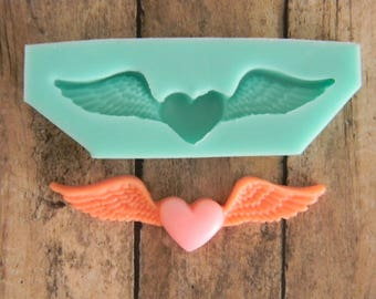 Flexible Mold - Heart With Wings