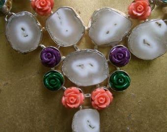 Exotic Artisan Semi Precious Stone Necklace