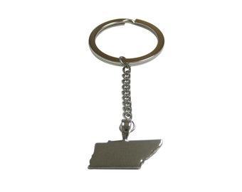 Tennessee State Map Shape Pendant Keychain