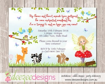 Enchanted Forest Birthday Invitation - YOU PRINT - BD193G