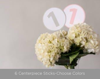 Centerpiece Sticks, Number 1 Centerpiece, Baby's 1st Birthday Decoration