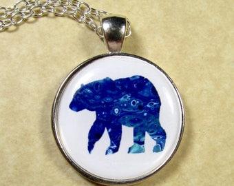 Polar Bear Pendant, Polar Bear Jewelry, Polar Bear Necklace, Polar Bear Gifts, Polar Bear Lover Gifts, Gifts with Polar Bear