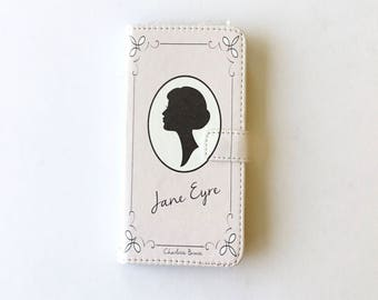 Book phone /iPhone flip Wallet case- Jane Eyre for  iPhone 8 7 6, 6 & 7 plus, 5 5s 5c- Samsung Galaxy S8 S7 S6 S5 Note 4, 5, 7, 8 LG, Sony