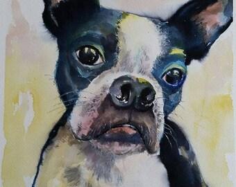 Pet Portrait - original watercolor painting of your pet